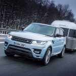 ICY TOWING TEST FOR RANGE ROVER SPORT HYBRID AT ARCTIC CIRCLE
